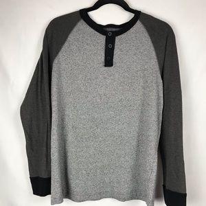 BDG Men's Shirt Nubby Grey Medium Henley